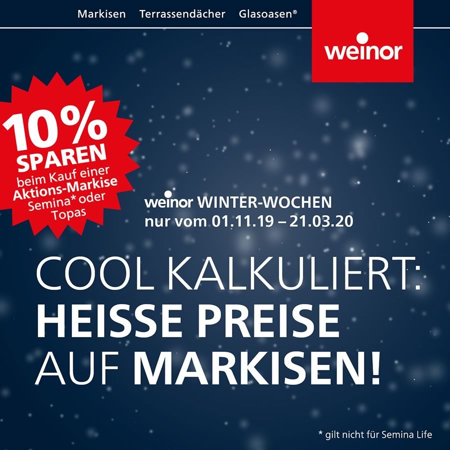 weinor-Winter-Wochen 2019